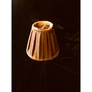 Brown Silk Chandelier Lamp Shades With Mocha Silk Lining - Set of 12 Preview