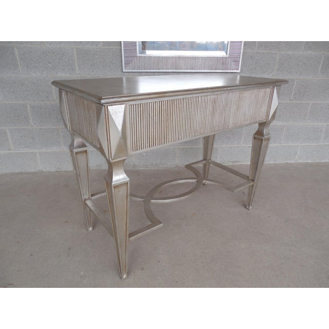 Friedman Brothers Hollywood Regency Silver Gilt Console & Mirror For Sale - Image 10 of 11