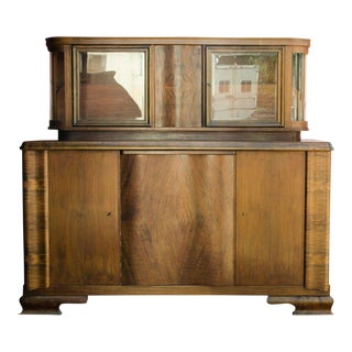 1930s Art Deco Burlwood Buffet and Sideboard For Sale