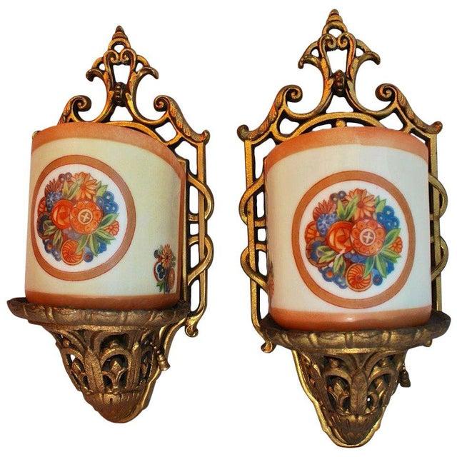 Art Deco Art Deco Sconces - a Pair For Sale - Image 3 of 3