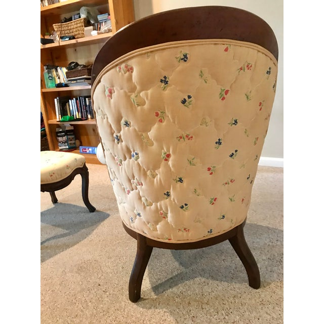 Victorian Slipper Chair and Ottoman For Sale - Image 11 of 13