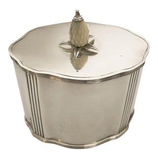 1910s Traditional J. Parkes Sterling Silver Tea Caddy