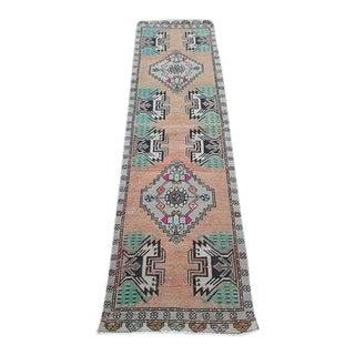 1970s Vintage Turkish Oushak Flat Weave Runner Rug - 1′7″ × 6′3″ For Sale