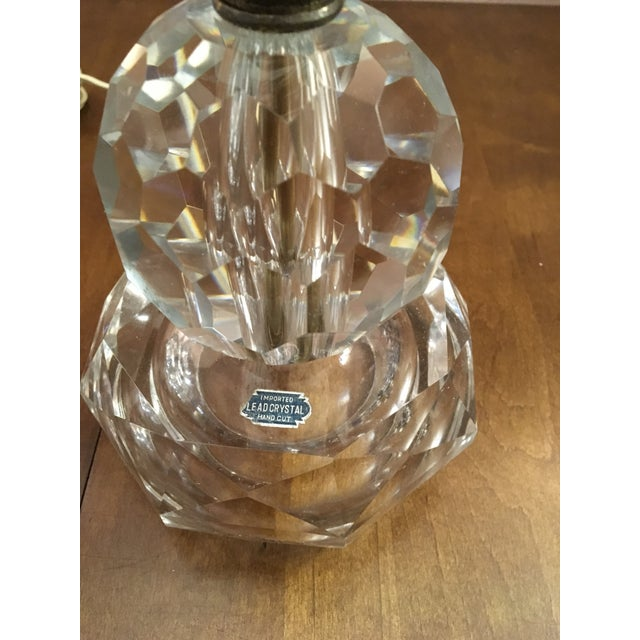 Mid-Century Modern Mid-Century Modern Vintage Crystal Table Lamps- A Pair For Sale - Image 3 of 13