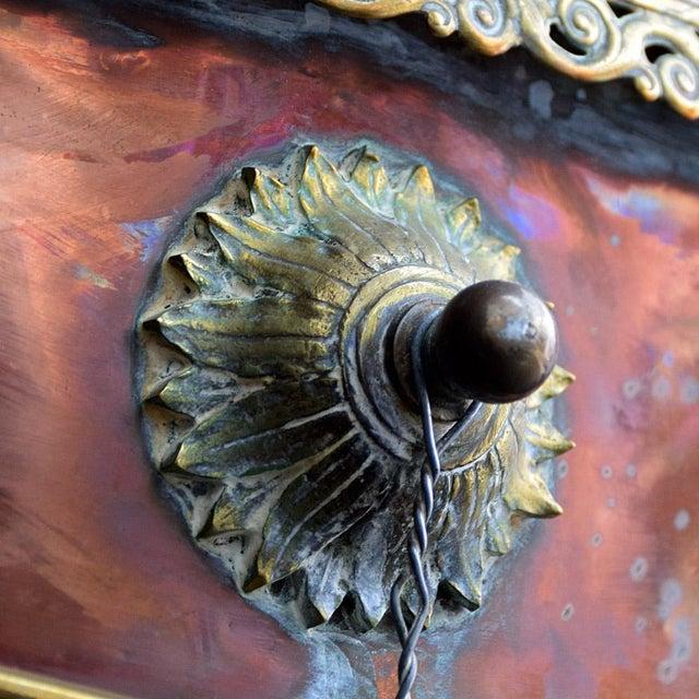 19th Century Votive Copper Sea Vessel For Sale - Image 10 of 13