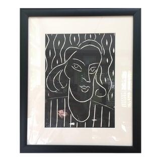 Homage to Henri Matisse Linocut