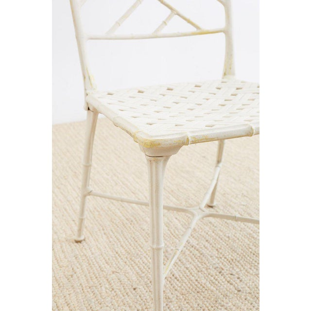 Brown Jordan Calcutta Faux Bamboo Garden Chairs For Sale - Image 11 of 13