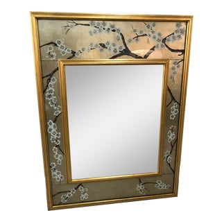La Barge Maitland Smith Large Chinoiserie Beveled Edge Mirror