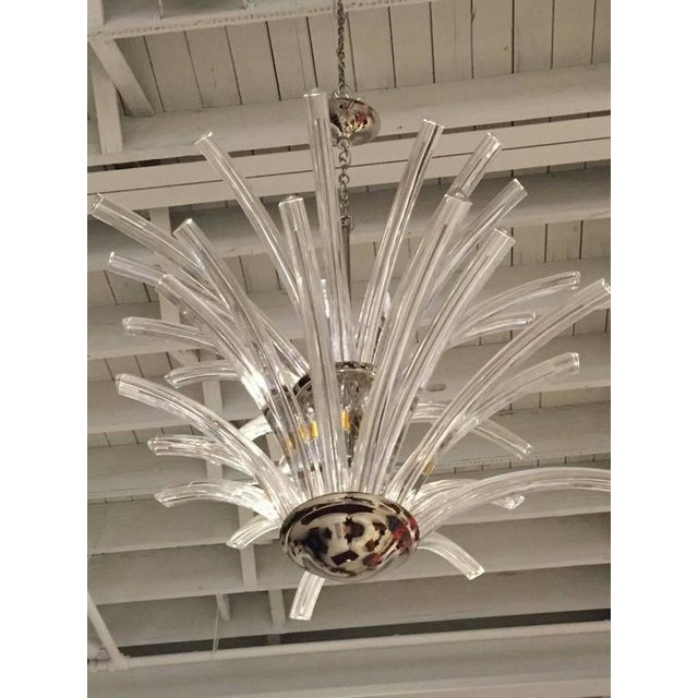 Italian MId-Century Modern Two-Tier Chandelier For Sale - Image 4 of 5