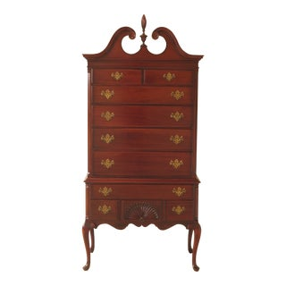 1950's Queen Anne Kling Mahogany Highboy For Sale