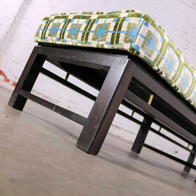 Edward Wormley for Dunbar Mid Century Modern Bench Newly Upholstered For Sale - Image 9 of 13