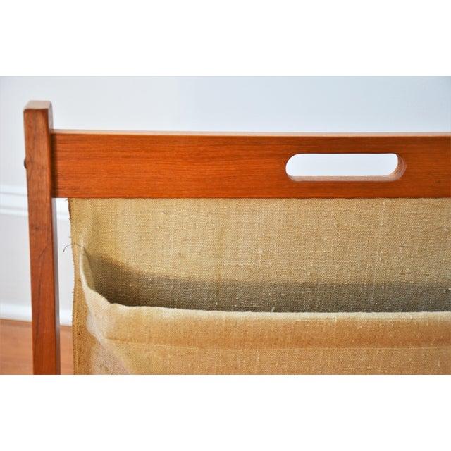 Brdr Furdo Danish Modern Teak and Linen Double Magazine Rack For Sale In Richmond - Image 6 of 12