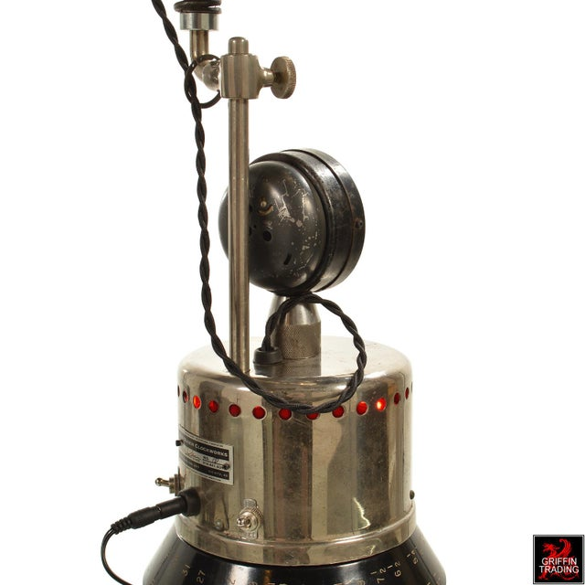 Chrome Custom Industrial Table Lamp For Sale - Image 7 of 8