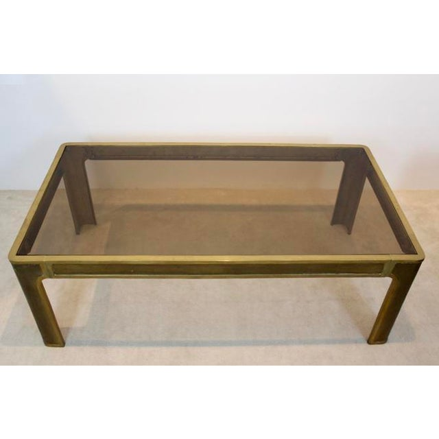 Peter Ghyczy Style Brass and Glass Coffee table - Image 4 of 8