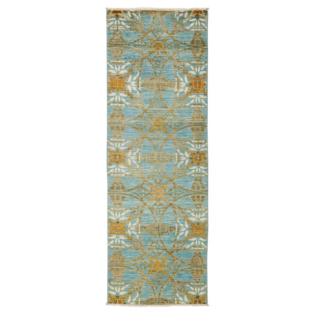 """Suzani Hand Knotted Runner - 2'7"""" X 8'3"""" For Sale - Image 4 of 4"""