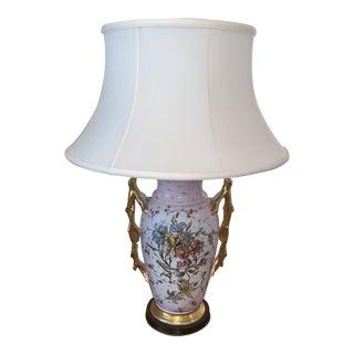 Antique Porcelain Vase Lamp For Sale