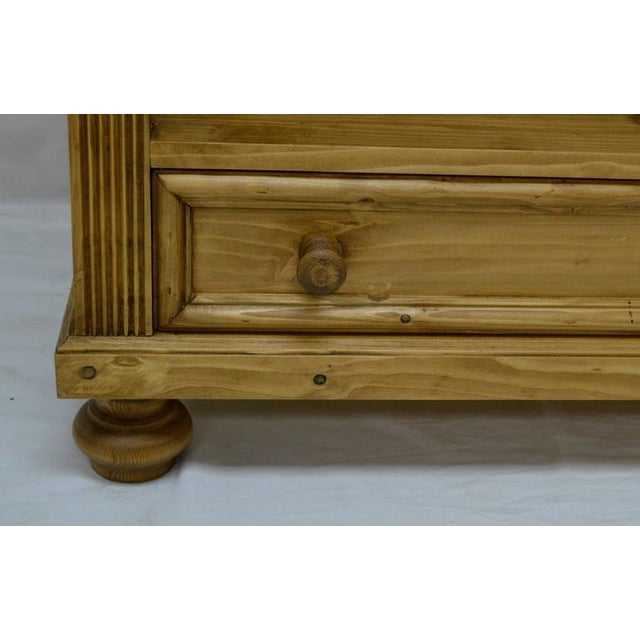 Wood Antique Pine Bookcase With Drawer For Sale - Image 7 of 7