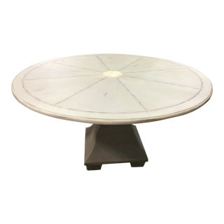 Shabby Chic Century Furniture Round Dining Table For Sale