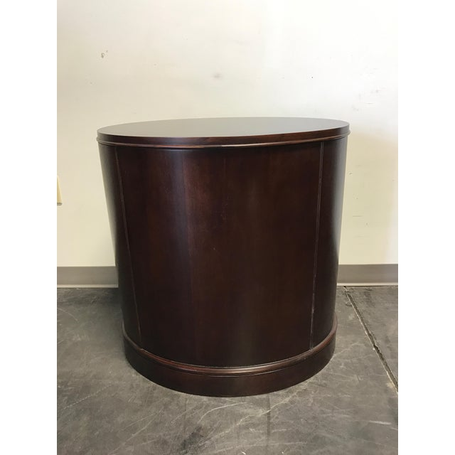 Contemporary Oval Mahogany 3-Drawer Bachelor Chest - Image 11 of 11