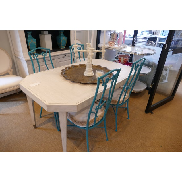 Modern Teal Wrought Iron Outdoor Chair For Sale In New York - Image 6 of 13