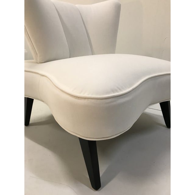 20th Century Pair Sculptural Art Deco Slipper Arm Less Chairs Attributed to Grosfeld House For Sale - Image 10 of 12