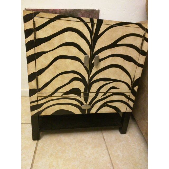 Zebra Print Side Tables - A Pair - Image 2 of 5