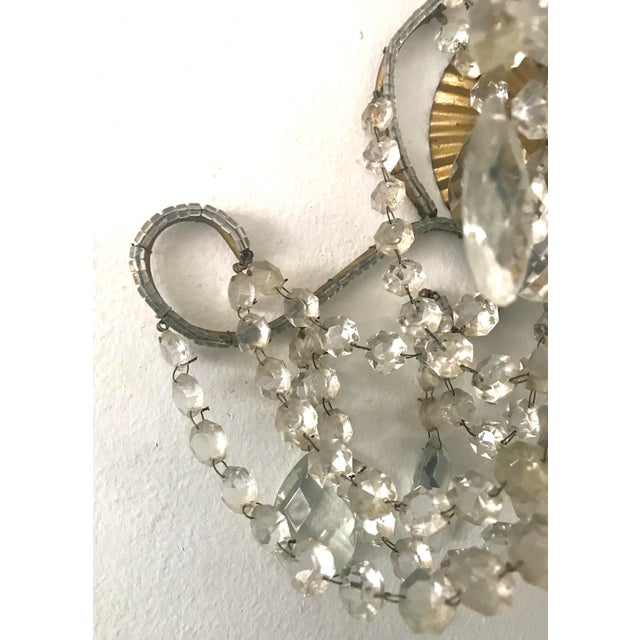 Italian Crystal Beaded Sconces - A Pair For Sale In Los Angeles - Image 6 of 7
