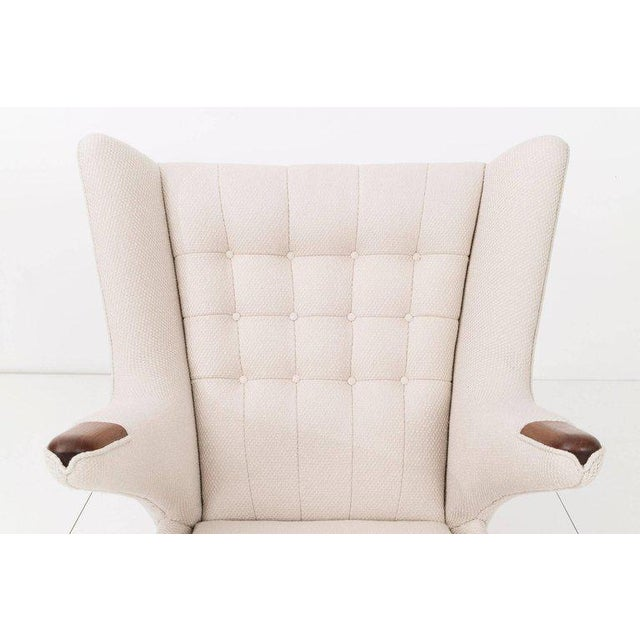 Hans J. Wegner Papa Bear Chair and Ottoman - Image 5 of 7