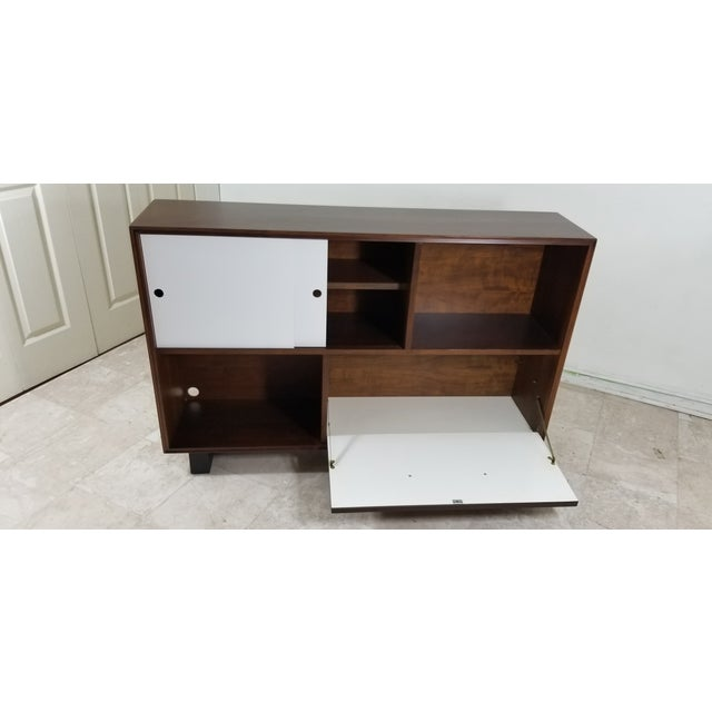 Brown 1950s Modern Style Cabinet For Sale - Image 8 of 13