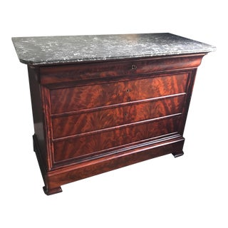 19th Century Louis Philippe Mahogany Commode For Sale