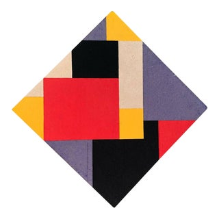 Mid-Century Felt Art Piece After Mondrian For Sale