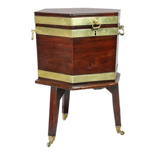 George III Mahogany and Brass Mounted Celleret For Sale