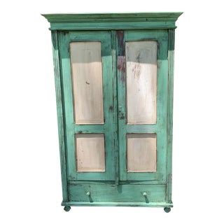 20th Century Shabby Chic Pine Wardrobe/Armoire For Sale