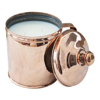 1880 Antique French Flour Canister Soy Wax Candle For Sale