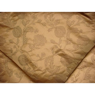 17-3/4 Kravet Couture 30723 Gold Gothic Jacobean Silk Damask Upholstery Fabric For Sale