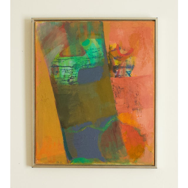 1970s Abstract Expressionist Painting, Framed For Sale In Los Angeles - Image 6 of 6