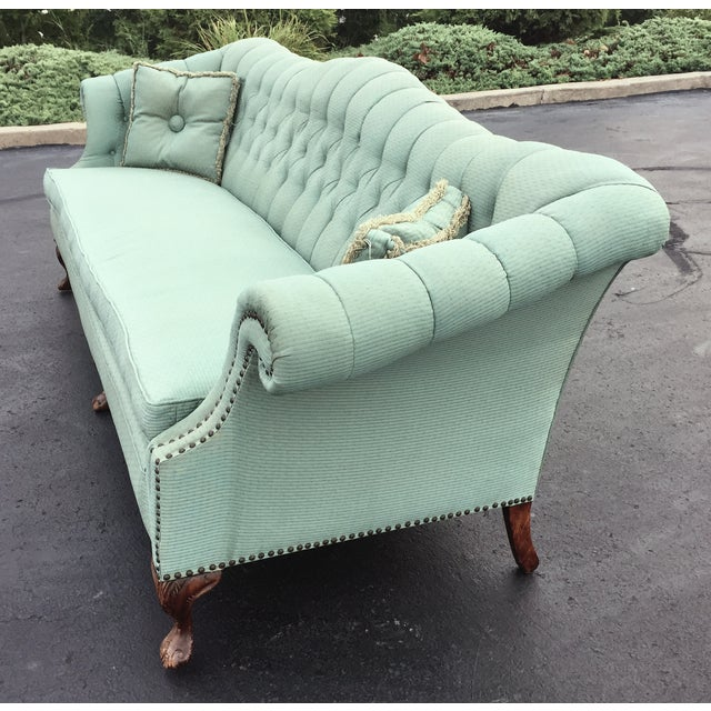 Early to Mid-Century Camelback Tufted Sofa - Image 4 of 6