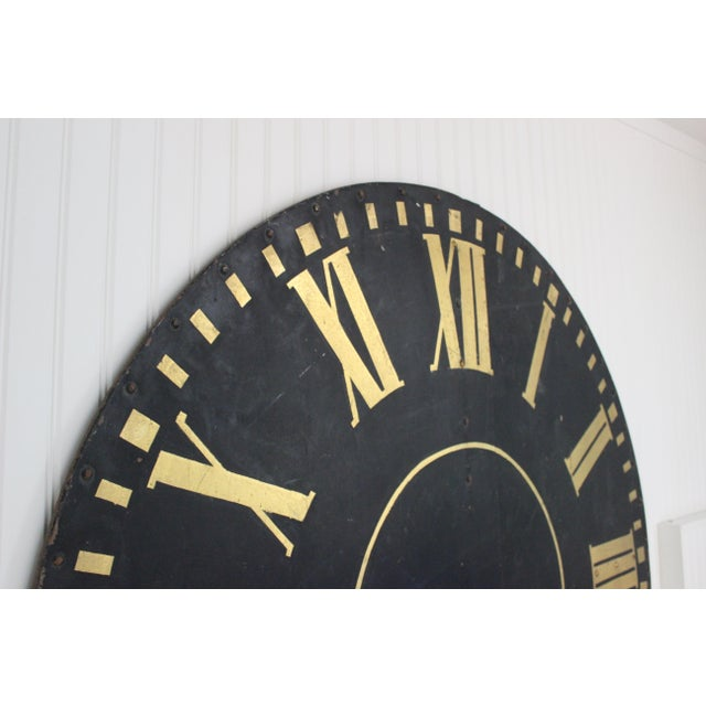 Metal Monumental Tower Clock Face For Sale - Image 7 of 8