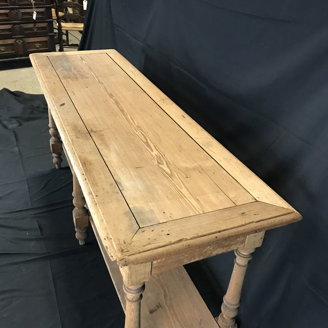 Mid 19th Century Antique French Pine Sideboard For Sale - Image 10 of 12