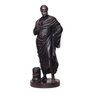 Neoclassic Patinated Bronze Figure For Sale
