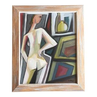 Original Stewart Ross Female Nude Painting