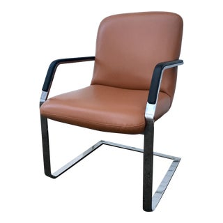 1980s Vintage Mies Van Der Rohe Stainless Flatbar Brno Chair For Sale