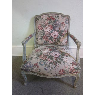 Stoneleigh Ltd. Louis XV Fauteuil Chair & Ottoman Preview