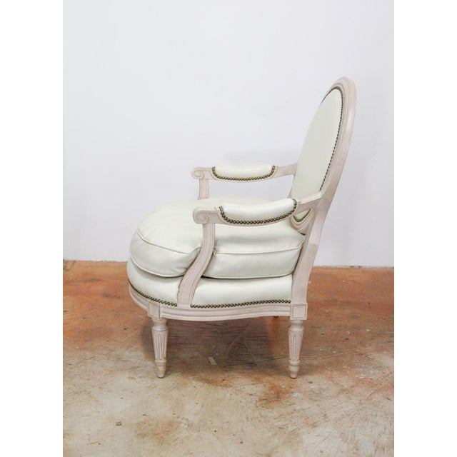Louis Style Faux Leather Chairs A Pair Chairish