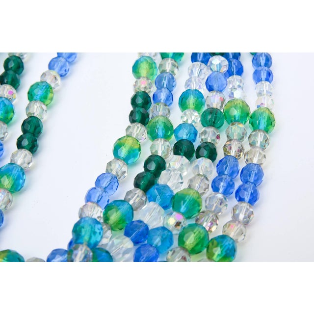 Elsa Schiaparelli Glass Strand Necklace & Clip on Earrings Set of Vintage For Sale - Image 4 of 11