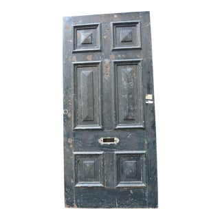 Antique English Huge 8' Tall Wooden Brown/Black Wide Door For Sale