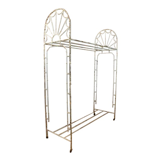 Early 20th C. Antique American Hotel Coat and Luggage Rack For Sale