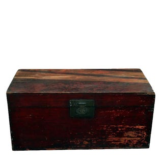 Red Antique Camphor Trunk