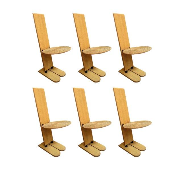 "Rare Gigi Sabadinc""Pala"" Chairs - Set of 6 For Sale"