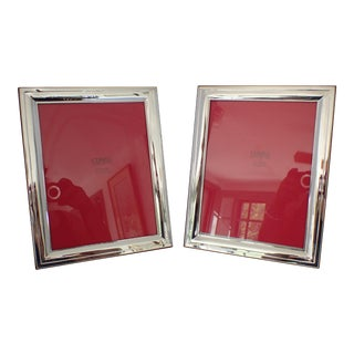 "Set of 2 Modern Sterling Silver ""Cunill"" Picture Frames"